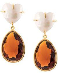 Lizzie Fortunato - Embellished Drop Earrings - Lyst