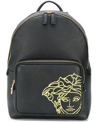 Versace メデューサ バックパック - ブラック