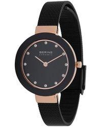 Bering Наручные Часы С Миланским Браслетом - Черный