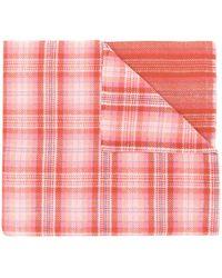 Acne Studios Cassiar Geruite Oversized Sjaal - Roze