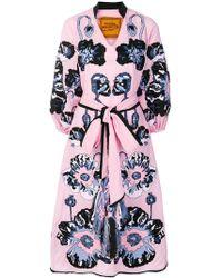 Yuliya Magdych - Poppy Embroidered Tie Waist Dress - Lyst