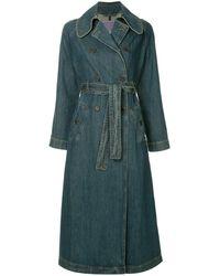 ALEXACHUNG Denim midi jacket - Bleu