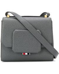 Thom Browne Rwb Tag Box Bag - Gray