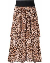 HUGO Leopard-print Midi Skirt - Multicolor