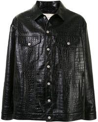 1017 ALYX 9SM Куртка С Тиснением Под Крокодила - Черный
