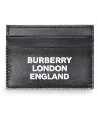Burberry Pasjeshouder Met Logoprint - Zwart