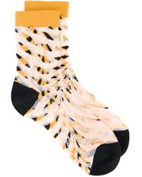 Henrik Vibskov   Striped Knit Socks   Lyst