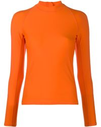 Perfect Moment Stretch Rash Vest - Orange