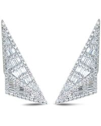 Kavant & Sharart Orecchini in oro bianco 18kt con diamanti - Metallizzato