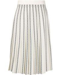 Tory Burch パターン スカート - ホワイト