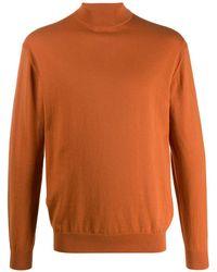 N.Peal Cashmere Джемпер С Высоким Воротником - Оранжевый