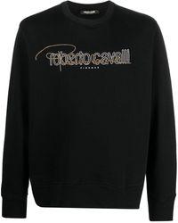 Roberto Cavalli Толстовка С Логотипом И Заклепками - Черный