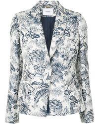 Erdem フローラル シングルジャケット - ホワイト