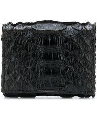 Brunello Cucinelli Croc-effect Wallet - Black
