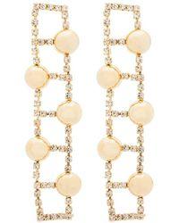 Rosantica Gold-tone crystal-embellished earrings - Métallisé
