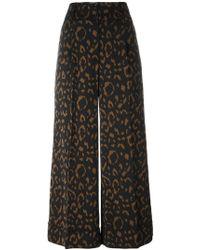 Blumarine - Jacquard Wide Leg Cropped Trousers - Lyst