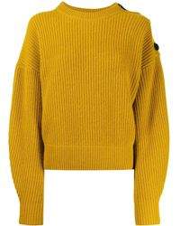 Yves Salomon Shoulder Button Sweater - Yellow