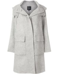 Theory - Button-down Fitted Coat - Lyst