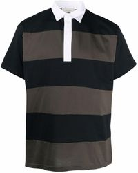 Low Brand Polo a rayas - Negro