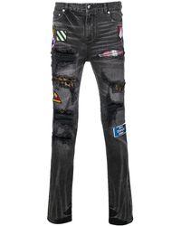 God's Masterful Children 'Pistol' Jeans mit Patches - Schwarz