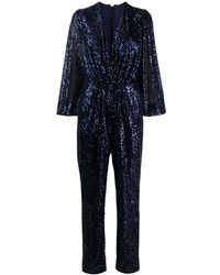 In the mood for love Sequin Jumpsuit - Blue