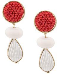 Shourouk Beaded Drop Earrings - White
