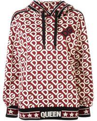 Dolce & Gabbana Худи Свободного Кроя С Логотипом - Красный