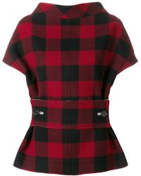 Marni - Structural Checked Blouse - Lyst