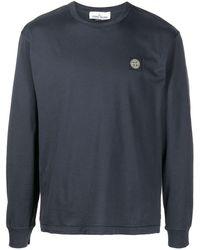 Stone Island ロゴパッチ Tシャツ - ブルー