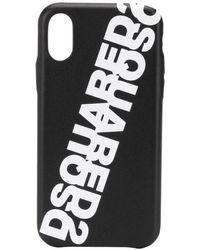 DSquared² Funda para iPhone 8 con logo - Negro