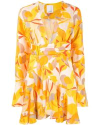 Acler Corsica Wrap Dress - Yellow