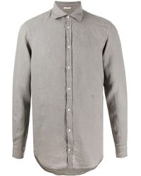 Massimo Alba Camisa Linen Shirt - Gray