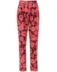 Andrea Marques - Printed Straight Trousers - Lyst