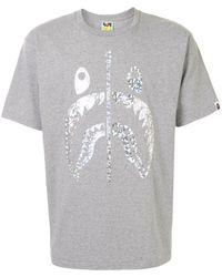 A Bathing Ape ロゴ Tシャツ - グレー