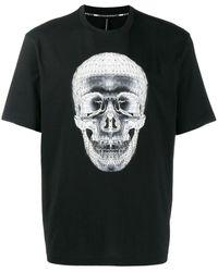 Neil Barrett Wireframe スカル Tシャツ - ブラック