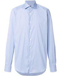 Dell'Oglio Классическая Рубашка С Длинными Рукавами - Синий