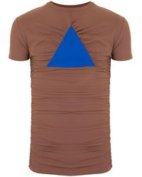 Walter Van Beirendonck Driehoek Longline T-shirt - Blue