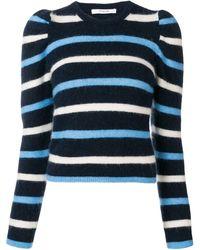 10 Crosby Derek Lam Striped Puff Sleeve Jumper - Blue