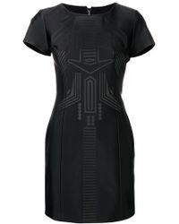 Frankie Morello - Embossed Mini Tube Dress - Lyst