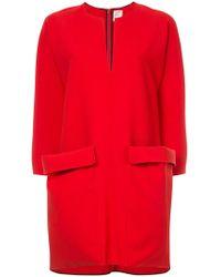 Maison Rabih Kayrouz - V Cut Mini Dress With Oversized Pockets - Lyst