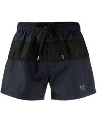 N°21 Logo-print Swim Shorts - Blue