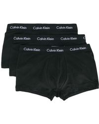 Calvin Klein - Pack Of Three Low Rise Trunks - Lyst
