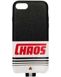 Chaos Coque d'iPhone X à logo - Noir