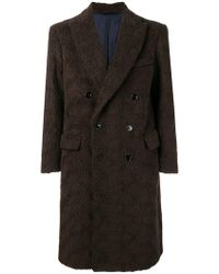 Mp Massimo Piombo - Double-breasted Coat - Lyst