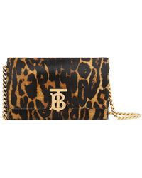 Burberry - Small Leopard Print Shoulder Bag - Lyst