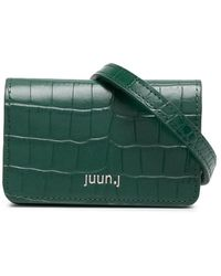 Juun.J クロコパターン ベルトバッグ - グリーン