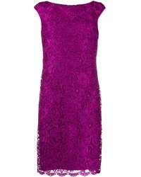 Lauren by Ralph Lauren Veeh Embroidered Lace Dress - Purple