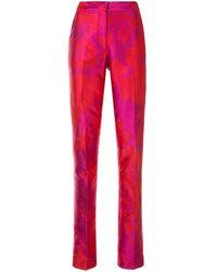 Carolina Herrera フローラル テーラードパンツ - ピンク