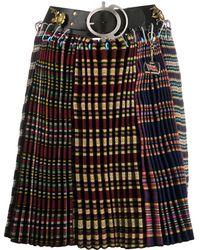 Chopova Lowena Contrast Panel Skirt - Yellow