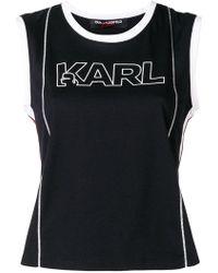 Karl Lagerfeld - Karl X Kaia Logo Tank Top - Lyst